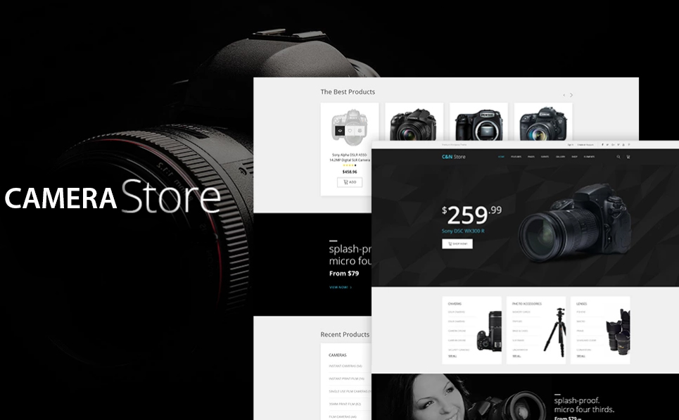 Buy professional DSLR Camera online drop shipping website business for sale