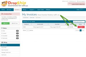 Log in to your account with us to view your invoice