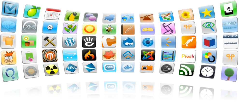 Quick install popular applications to build your own website with us