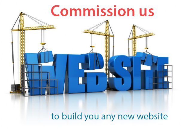 Commission us to build you a brand new website from scratch