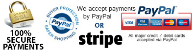 Secure payments via our website
