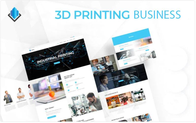 3d Printing online business website for sale