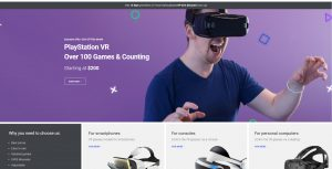 VR Virtual reality headset online business for sale